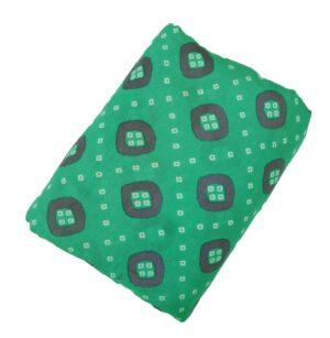 Green base Purple Bandhani print Pure cotton for salwar / Kurti PC438