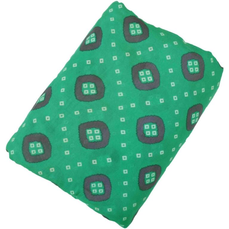 Green base Purple Bandhani print Pure cotton for salwar / Kurti (per meter price) PC438