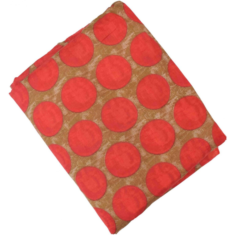 Red Dots allover print Pure cotton fabric (per meter price) PC439