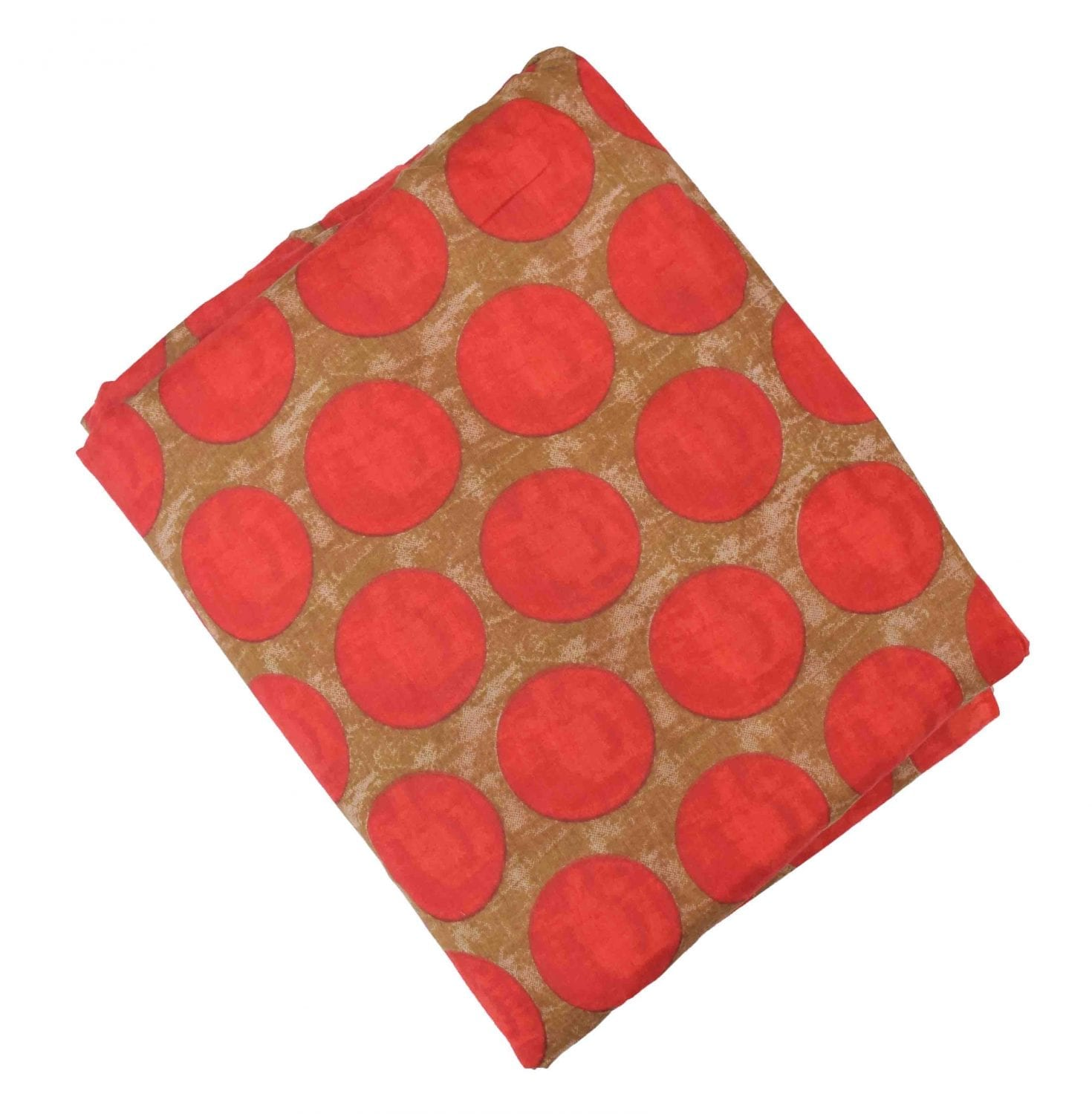 Red Dots allover print Pure cotton fabric PC439 1