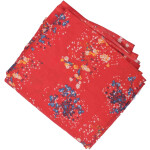 Red allover printed Pure cotton fabric PC441