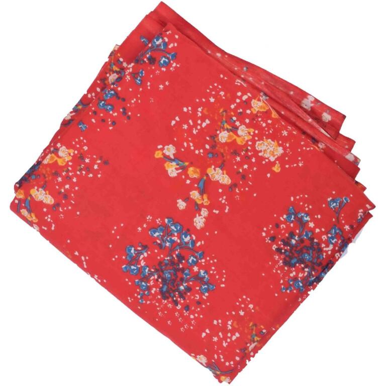 Red allover printed Pure cotton fabric (per meter price) PC441