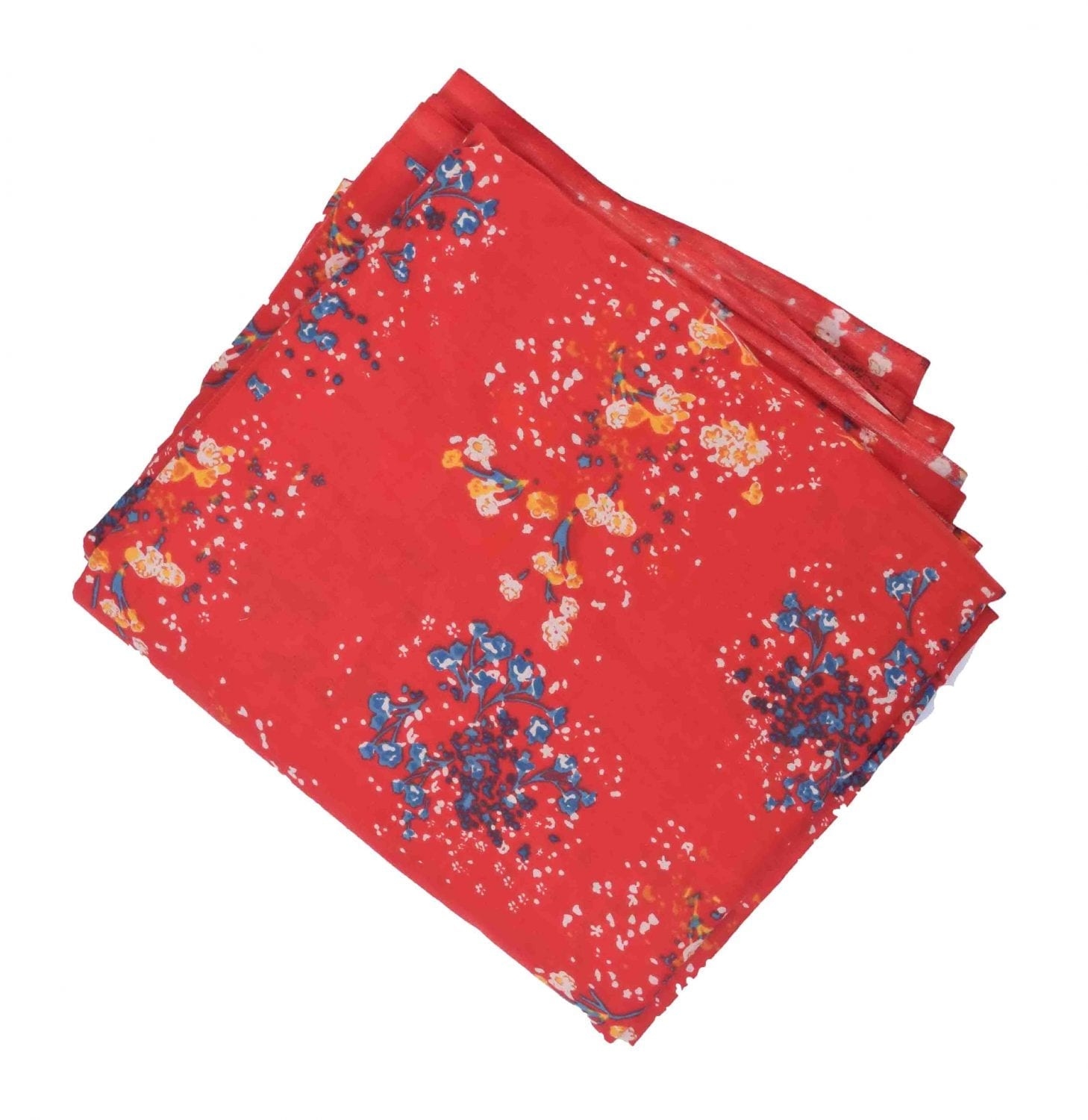 Red allover printed Pure cotton fabric PC441 1