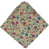 Cream Base Multicolour Flowers allover print Pure cotton fabric (Price by meters) PC443