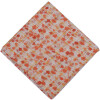 Small Orange Flowers allover print Pure cotton fabric (Price by meters) PC448