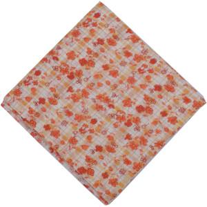 Small Orange Flowers allover print Pure cotton fabric PC448