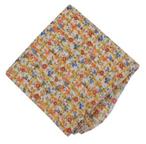Multicolor Flowers allover print Pure cotton fabric PC449