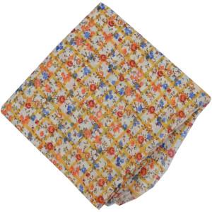 Multicolor Flowers allover print Pure cotton fabric PC449