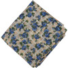 Blue Flowers allover print Pure cotton fabric (Price by meters) PC450