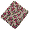 Dark Pink Flowers allover print Pure cotton fabric (Price by meters) PC451