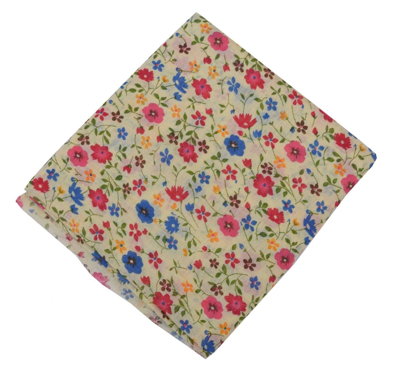 Floral Multicolour allover printed Pure cotton fabric PC452 1