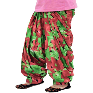Printed Full Patiala Salwar Limited Edition 100% Pure Cotton Shalwar PPS237
