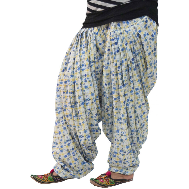 Printed Full Patiala Salwar Limited Edition 100% Pure Cotton PPS276