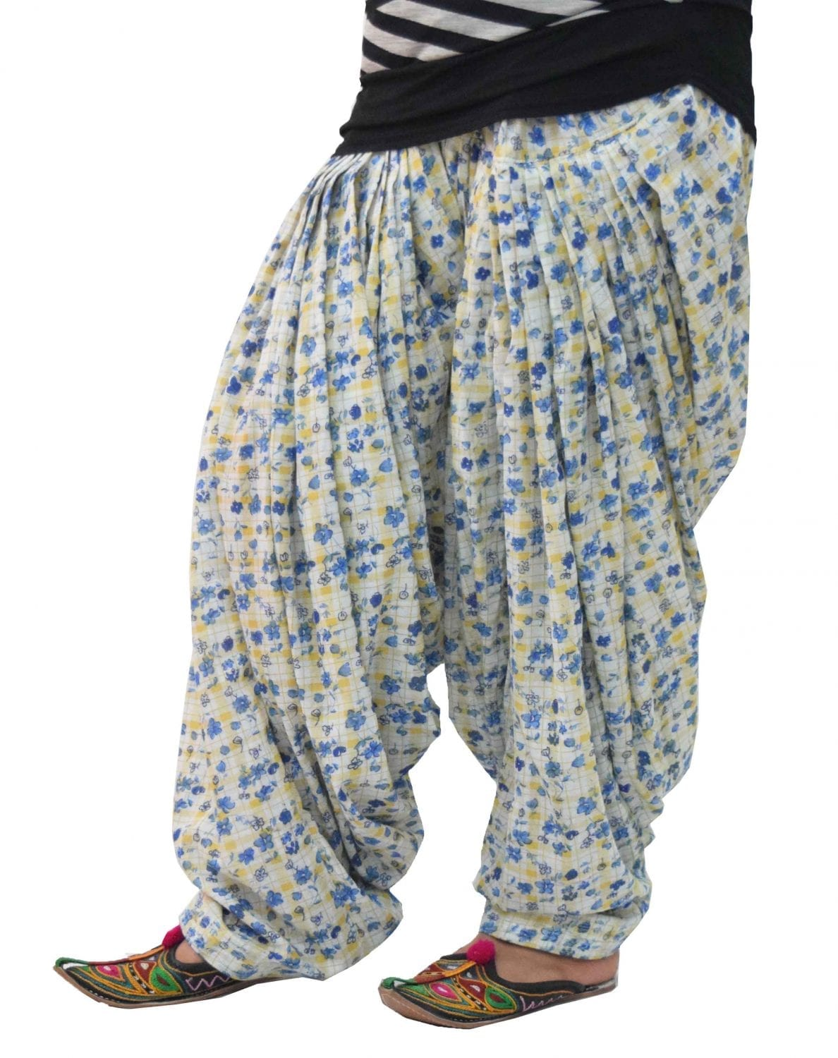 Printed Full Patiala Salwar Limited Edition 100% Pure Cotton PPS276 1