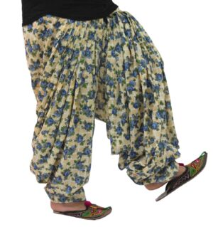 Printed Full Patiala Salwar Limited Edition 100% Pure Cotton PPS279
