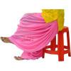 Pink Satin Silk Maharani Patiala Salwar - Custom Stitched as per your own measurements