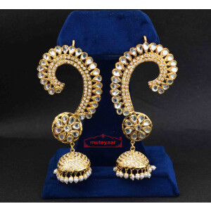 Kundan Jadau Gold Plated Long Jhumki set J0269