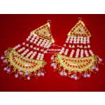 Gold Plated Jadau Punjabi Traditional Jewellery Earrings Long Jhumka J0296