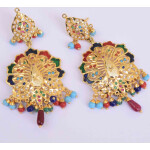 Peacock design Jadau Punjabi Traditional Jewellery Earrings Jhumka J0300