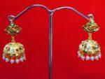 Jadau Gold Polished Traditional Punjabi Jhumki Earrings set J0369