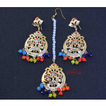 Jadau Traditional Punjabi Tikka Earrings J0429