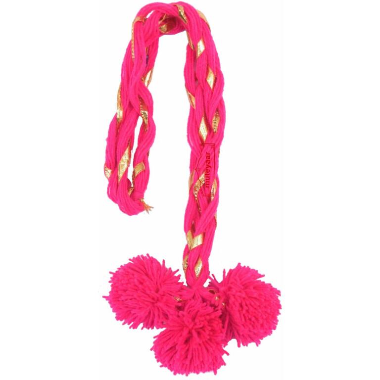 Luddi Paranda Pom Pom Tassles Hair Accesory - All Colours Available