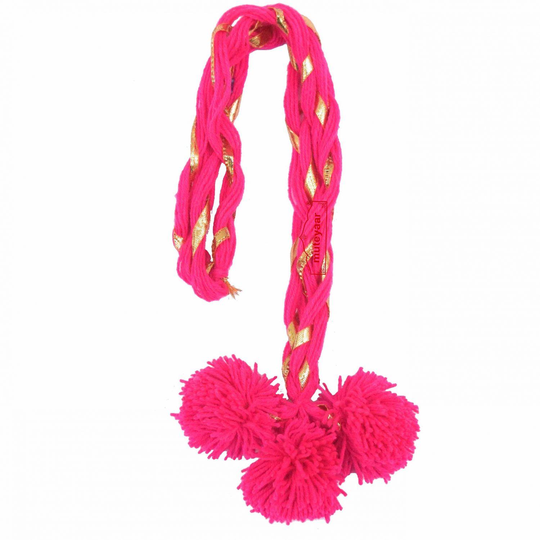 Luddi Paranda Pom Pom Tassles Hair Accesory - All Colours Available 1