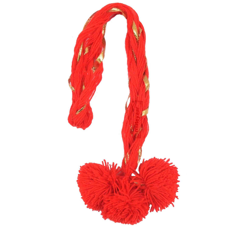 Luddi Paranda Pom Pom Tassles Hair Accesory - All Colours Available 6