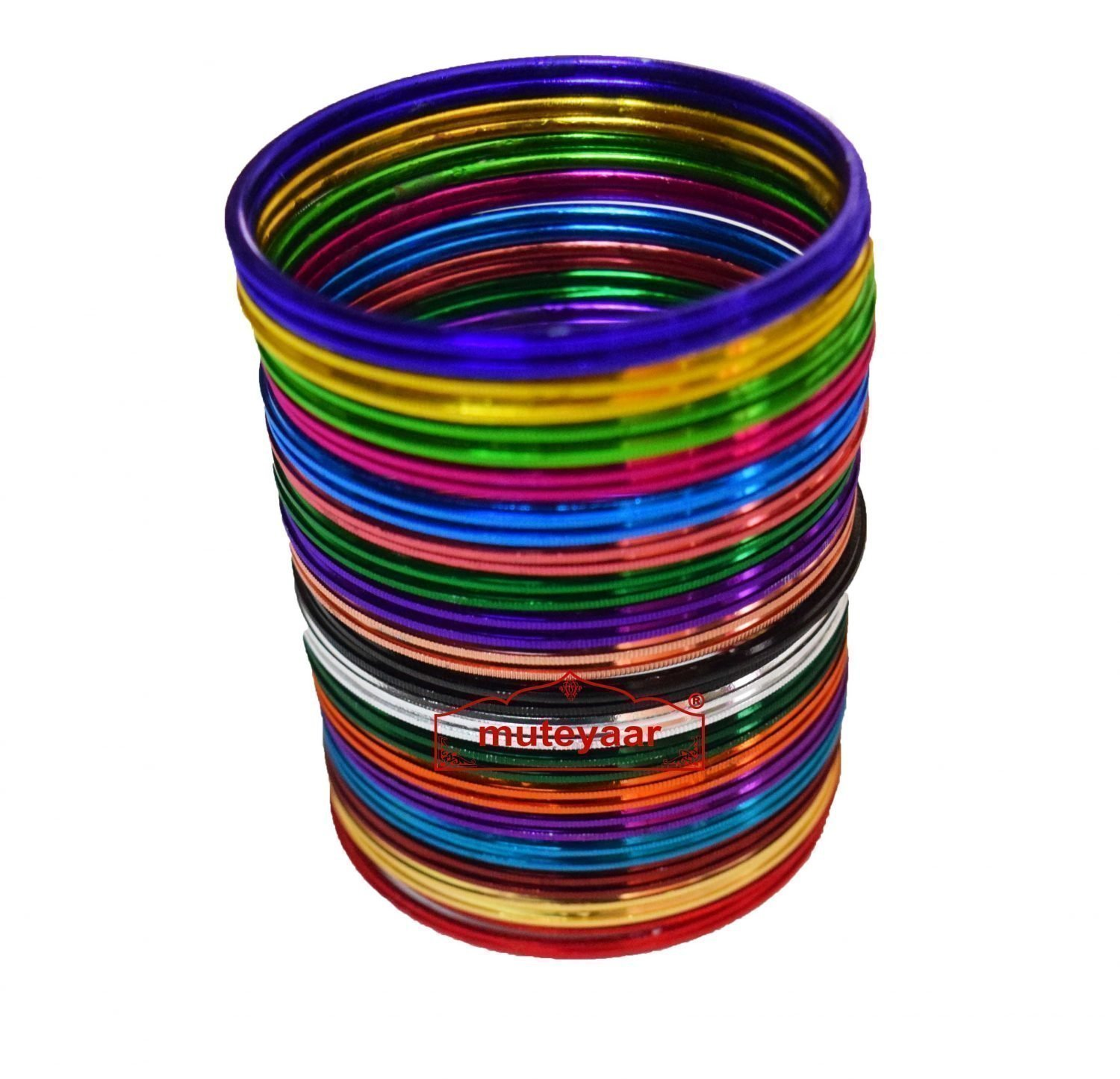 Multi Colour Bangles Set - All sizes available 1