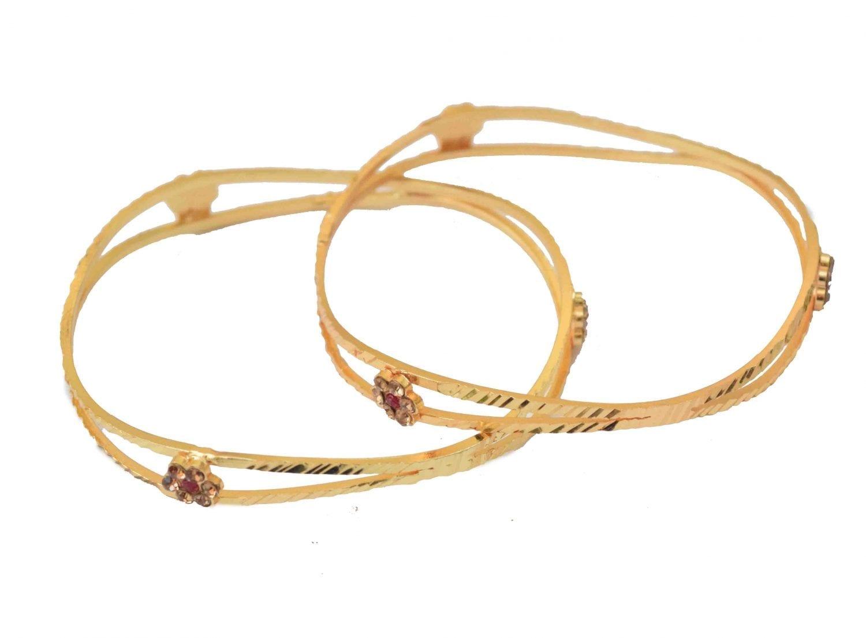 Sleek Golden designer bangles pair BN153 1