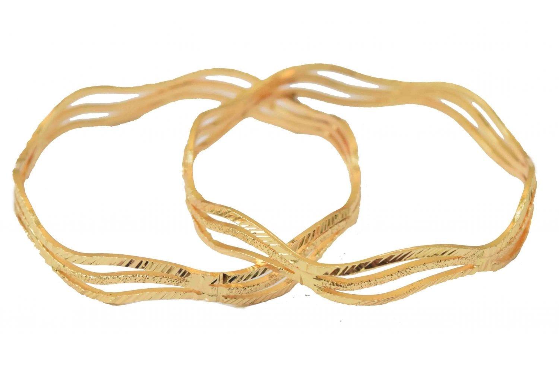 Sleek Golden designer bangles pair BN154 2