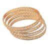Sleek Golden designer bangles set of 4 pieces BN155