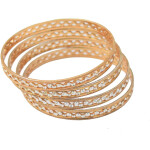 Sleek Golden designer bangles set of 4 pieces BN155