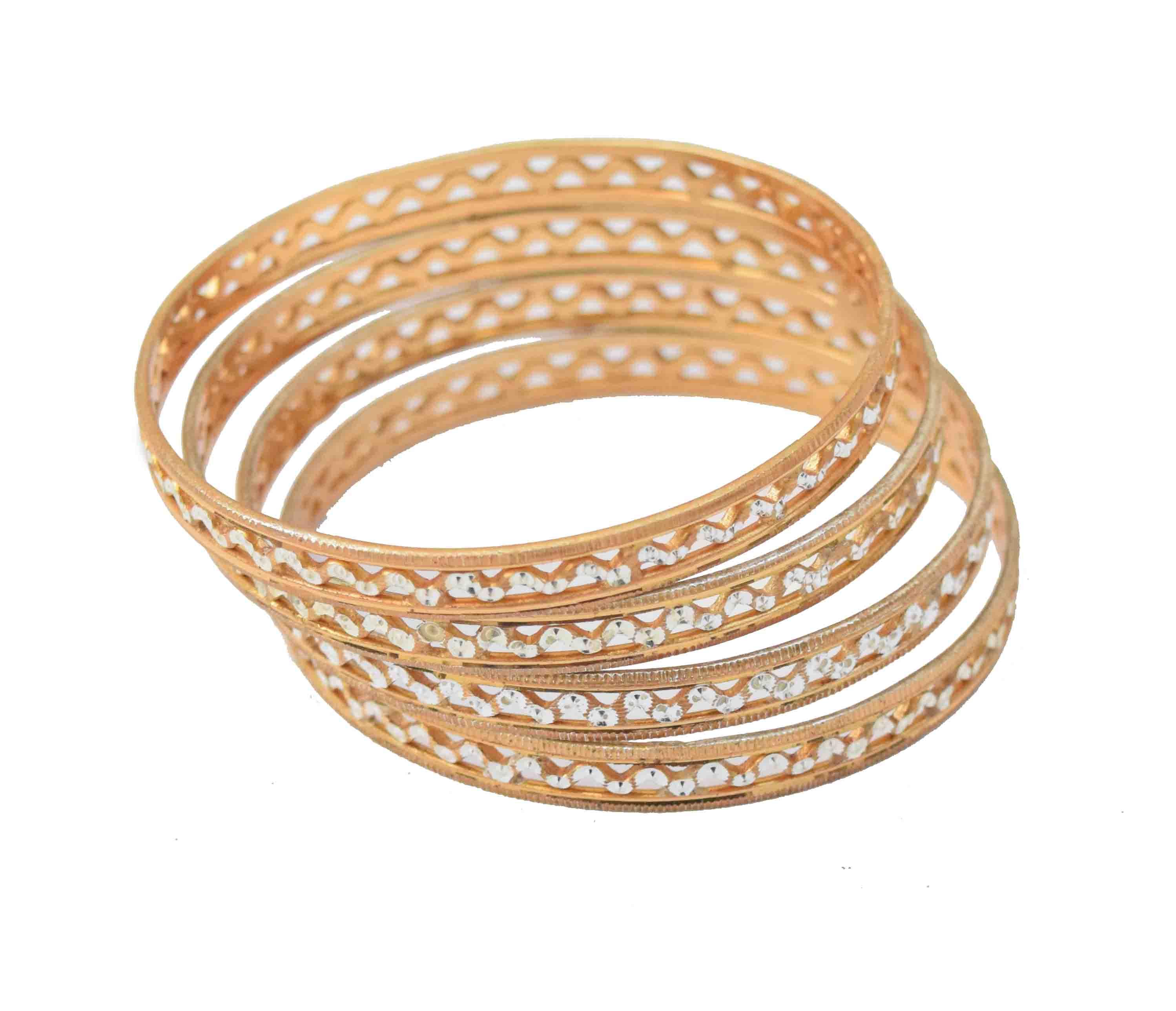Sleek Golden designer bangles set of 4 pieces BN155 1