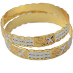 Golden Silver designer kangan bangles set of 2 pieces BN156
