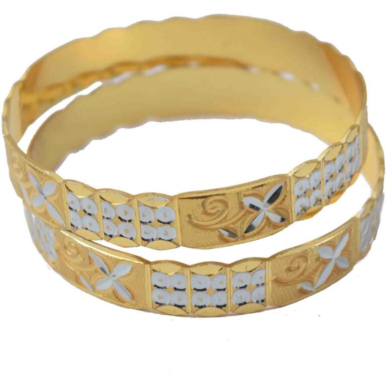 Golden Silver designer kangan bangles set of 2 pieces BN156
