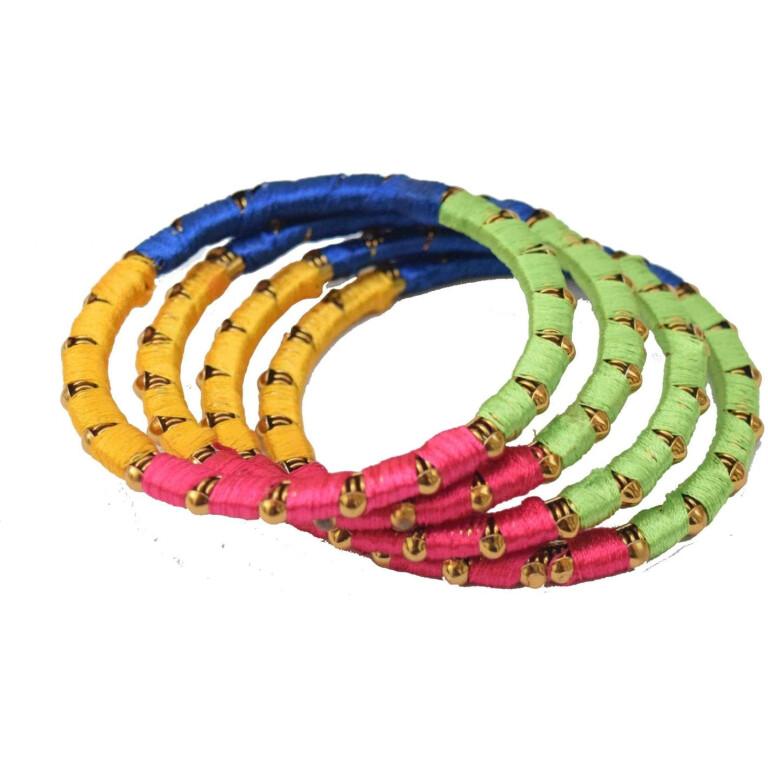 Multicolour designer bangles set of 4 pieces BN157
