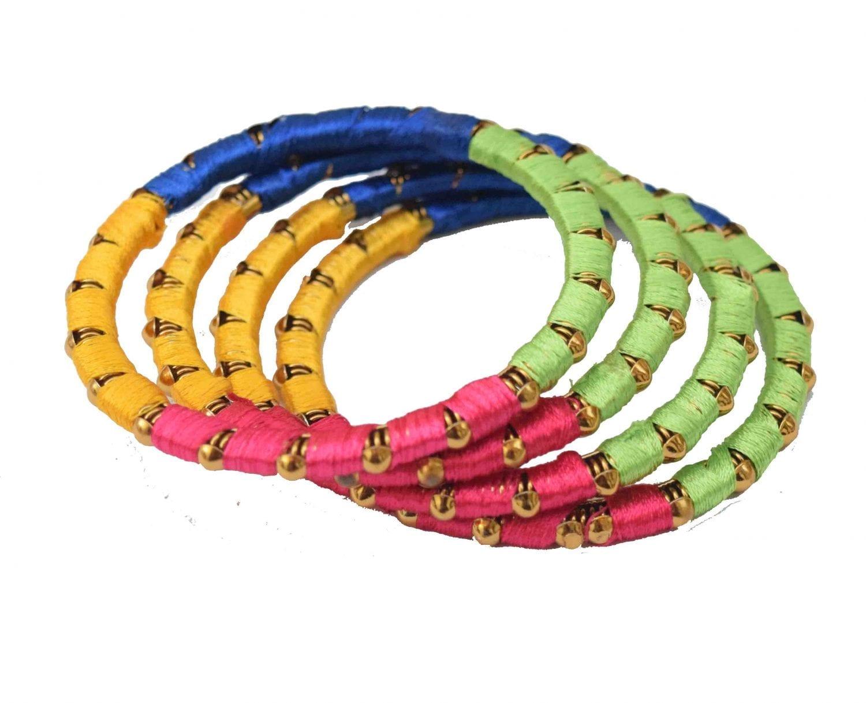 Multicolour designer bangles set of 4 pieces BN157 1