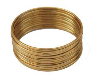 Plain Golden bangles set of 12 pieces BN158