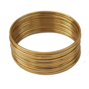 Plain Golden bangles set of 12 pieces BN158