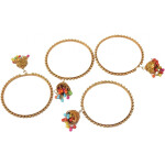 Golden Latkan bells bangles set of 4 pieces BN160