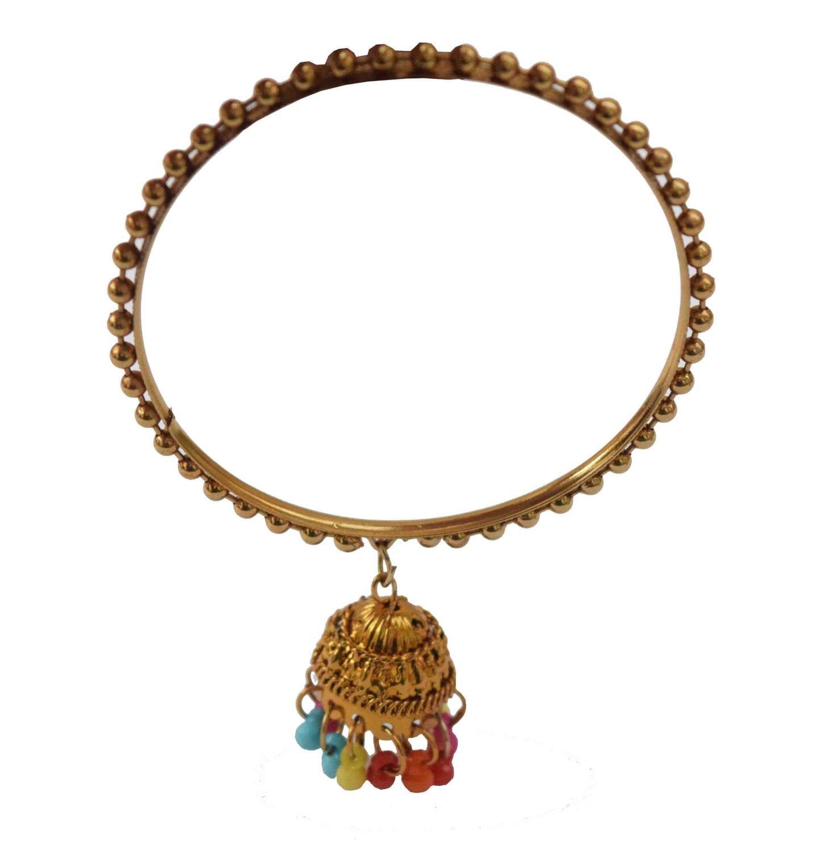 Golden Latkan bells bangles set of 4 pieces BN160 2
