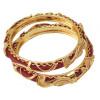 Red Golden designer kangan bangles set of 2 pieces BN161