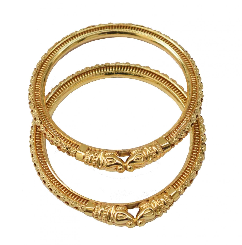 Sher Muha Golden designer kangan bangles set of 2 pieces BN162 1