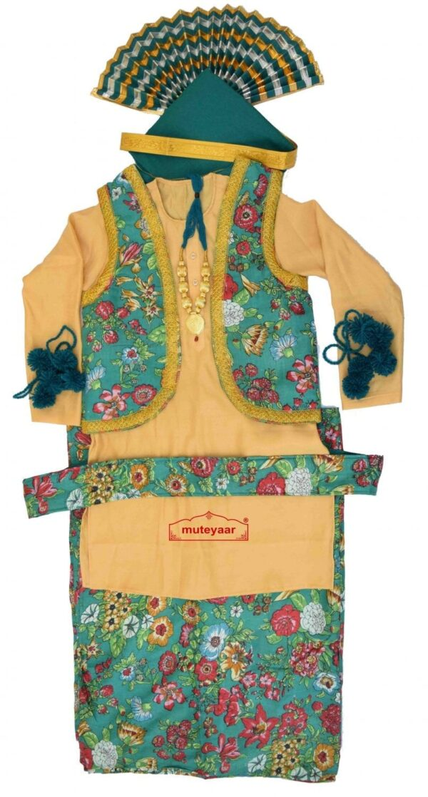 Printed Bhangra Costume Dress Outfit for Men