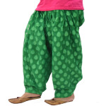 Green Printed Net Fabric Patiala Salwar Limited Edition PNS01