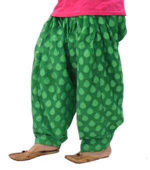 Green Printed Net Fabric Patiala Salwar Limited Edition PNS01