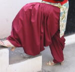 Maroon Patiala Salwar as per your size !!
