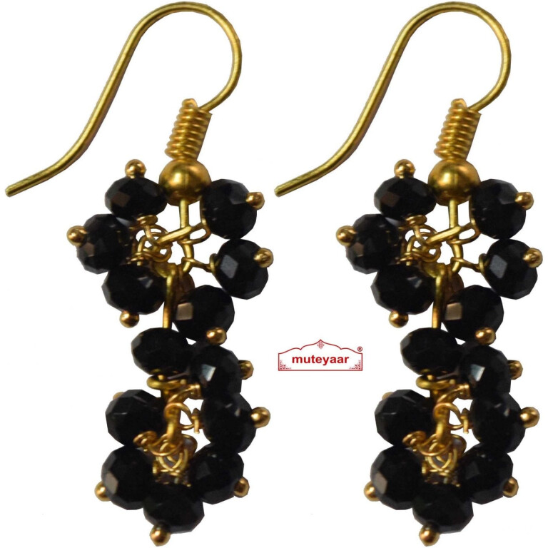 2 Step Crystal Earrings Jhumki - All colours available