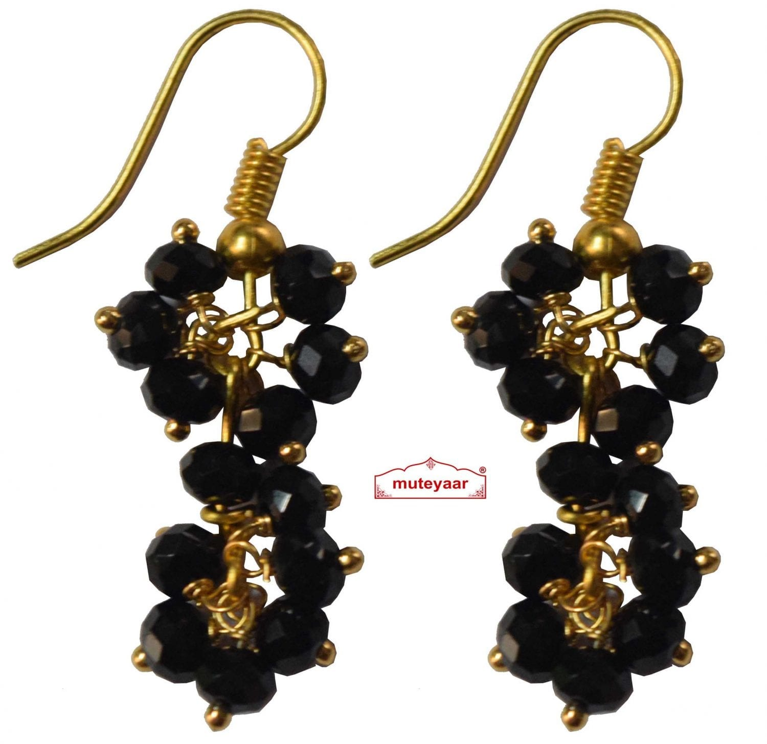 2 Step Crystal Earrings Jhumki - All colours available 1